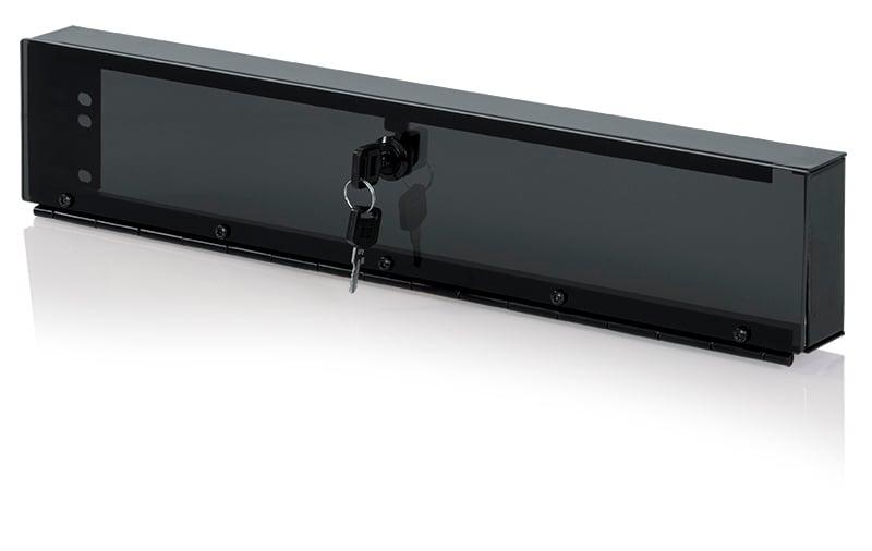 2RU Hinged Plexiglass Security Panel