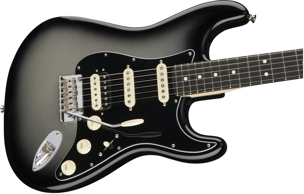 American Pro Stratocaster HSS ShawBucker, Silverburst