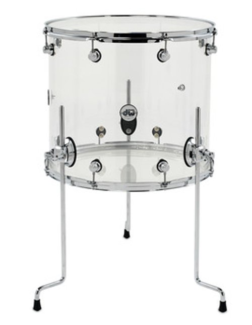 "16x18"" Design Series Clear Acrylic Floor Tom"
