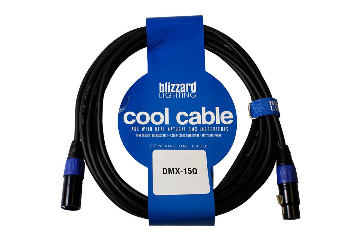 15' 22 AWG 3-Pin XLR-M to XLR-F 120 Ohm DMX Cable