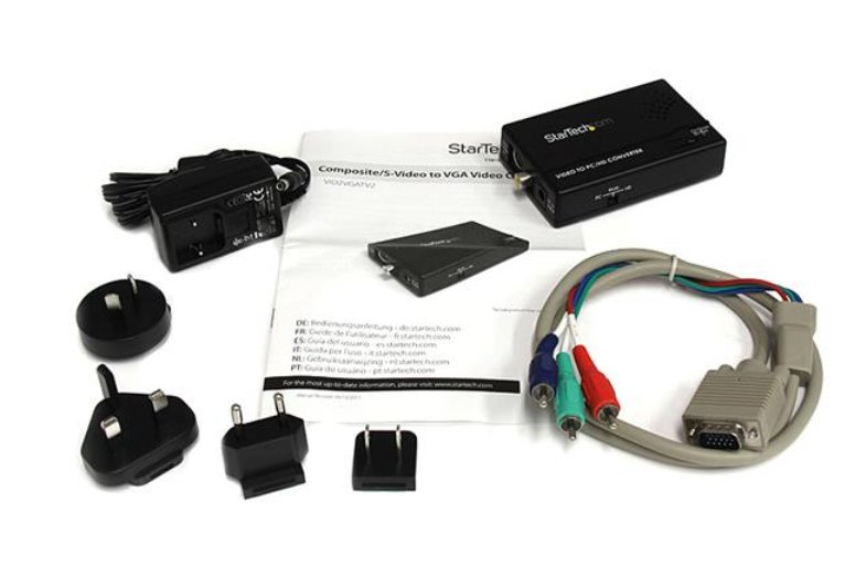 Composite and S-Video to VGA Video Scan Converter