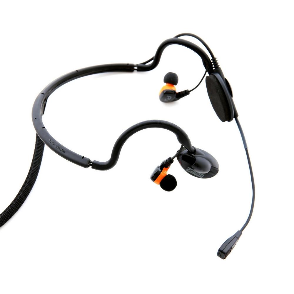 Black Modular Intercom Headset