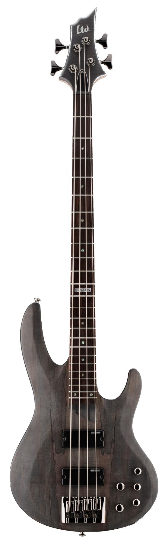 Electric Bass Guitar, See Thru-Black Satin