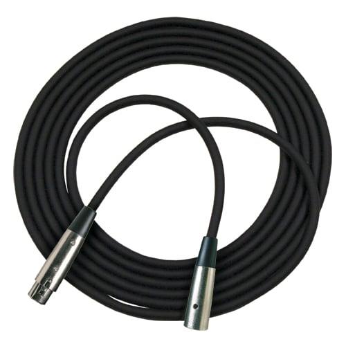 25 ft M6 Microphone Cable with Neutrik Connectors