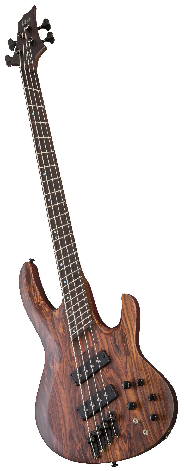 Electric Bass Guitar, Natural Satin