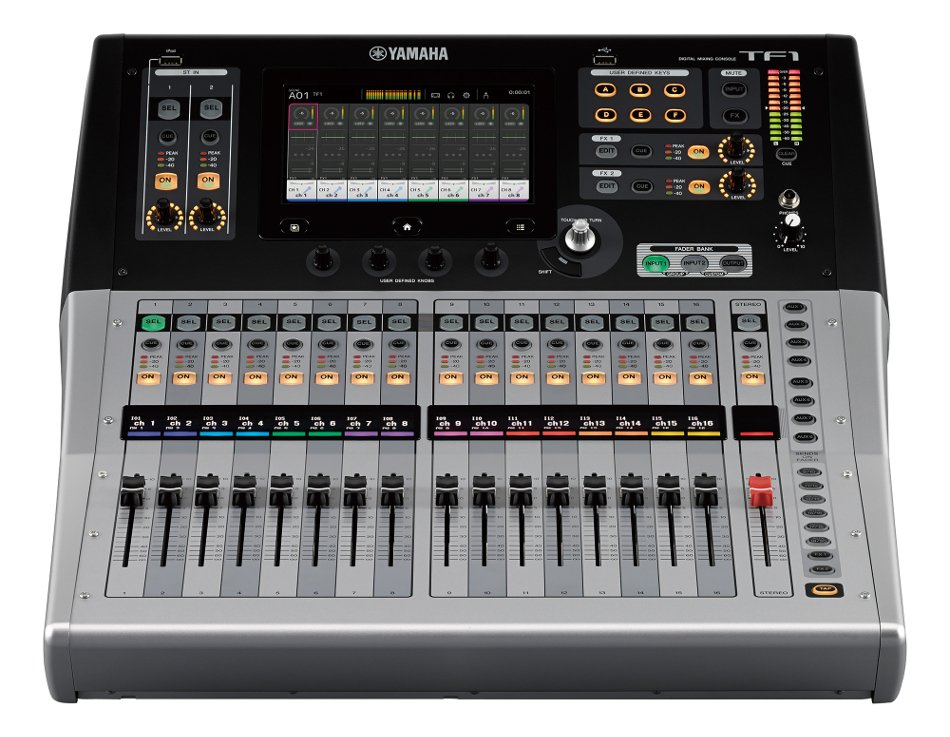 """Digital Mixing Console with 17 Motorized Faders and 16 XLR-1/4"""" Combo Inputs"""