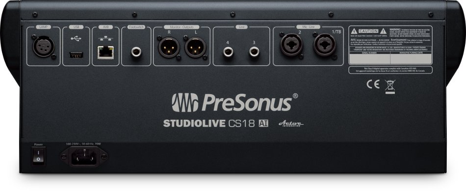 Touch-Sensitive, 18 Moving-Fader Ethernet/AVB Control Surface for StudioLive Rackmount Mixers