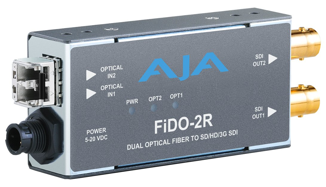 2-Channel Multi-Mode LC Fiber to 3G-SDI Receiver
