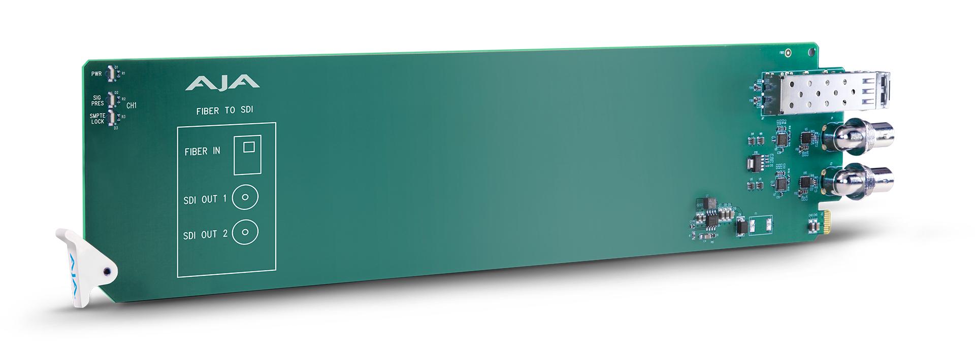 openGear 1-Channel Multi-Mode LC Fiber to 3G-SDI Receiver