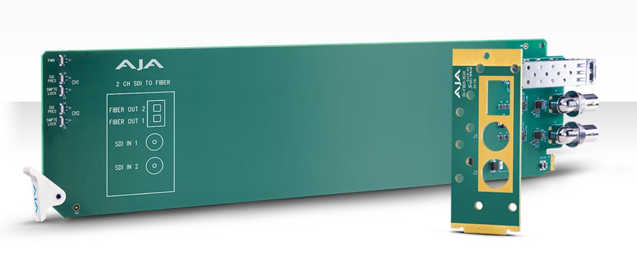 openGear 2-Channel 3G-SDI to Multi-Mode LC Fiber Transmitter