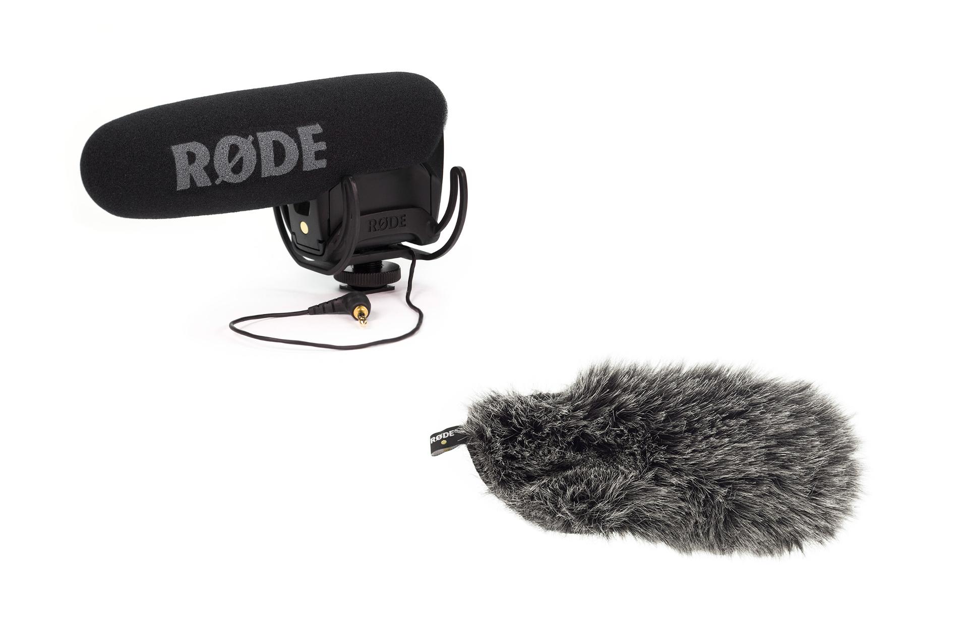 On-Camera Mic with Rycote Lyre Shock Mount plus Deadcat VMPR