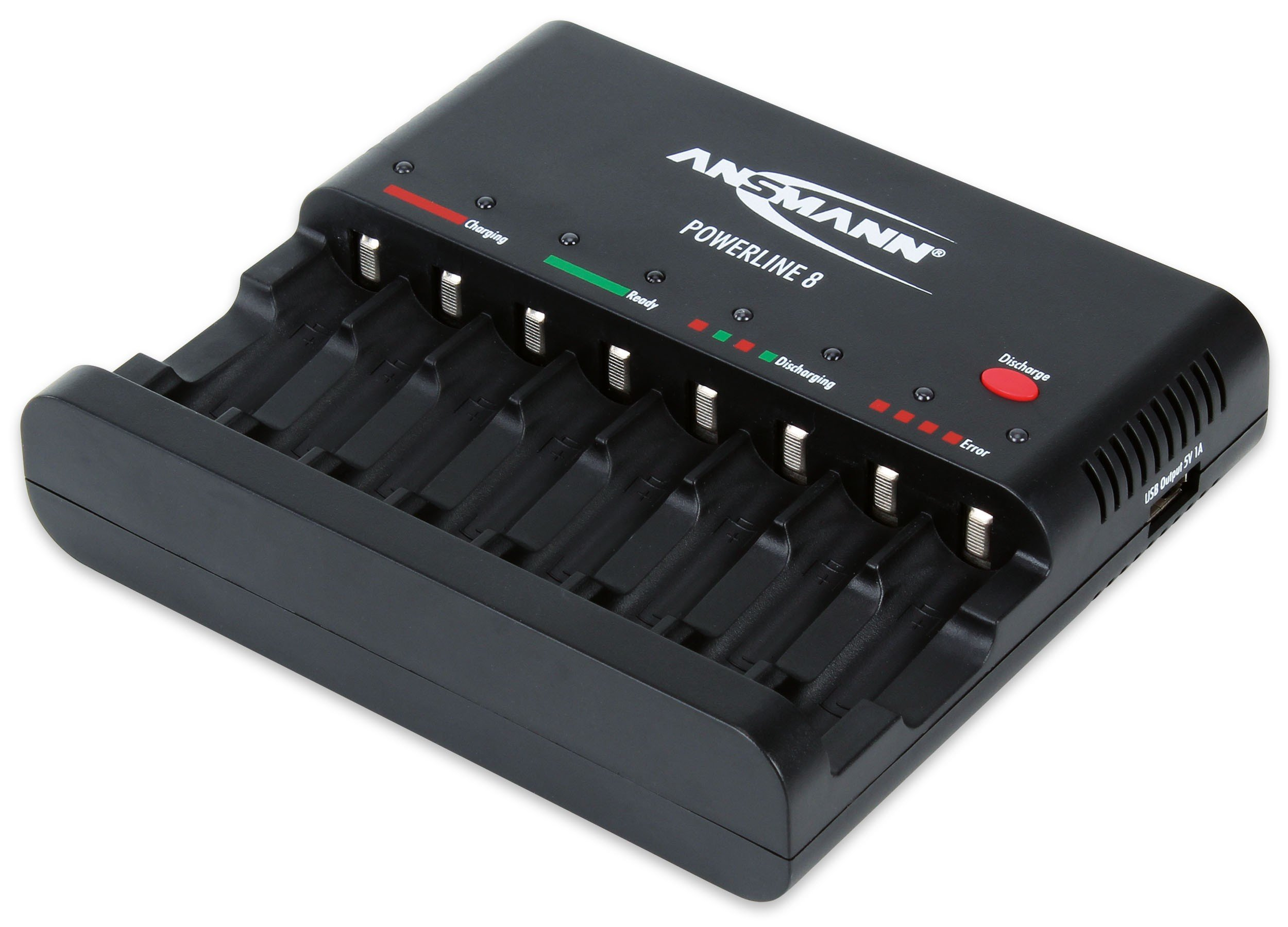 8-Bay Battery Charger for NiMH/NiCad AA & AAA Batteries with 2 Free 4-Packs of Max E Pro AA Batteries