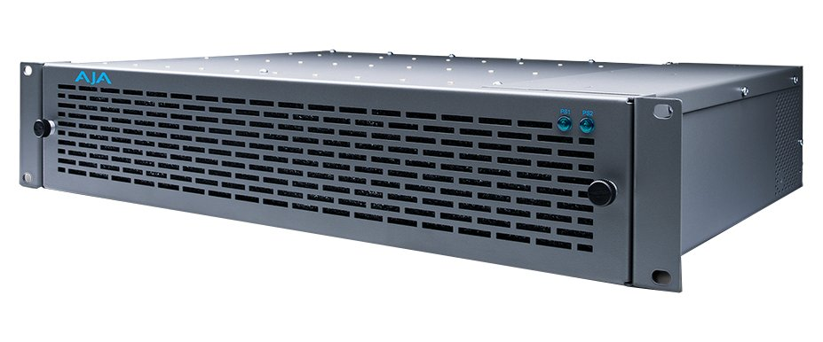 AJA Video Systems Inc FR2D Rackmount Frame for R-Series, 2RU, 10-Slot, 100W, Forced Air Cooling, Dual Power Supplies FR2D