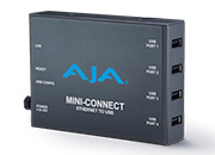 Control AJA Mini-Converters Via Ethernet, 4-Port USB Converter