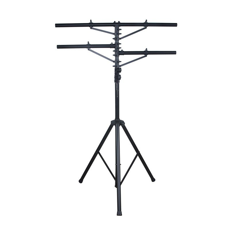 12ft Black Ttripod Stand with 2 Side Bars
