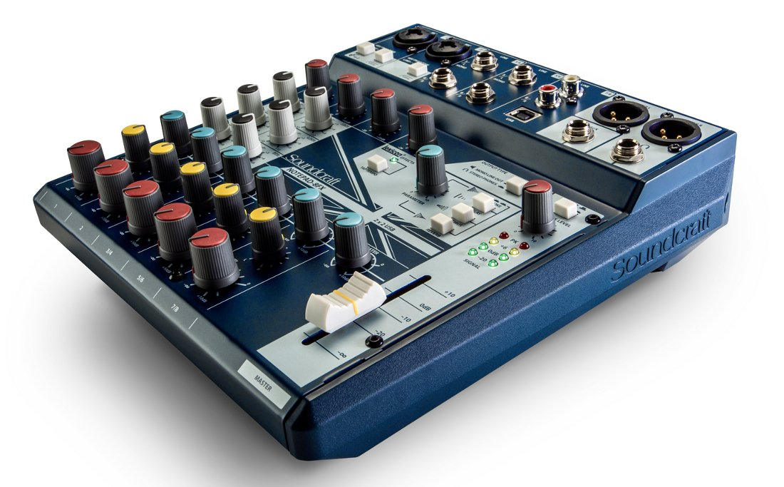 Soundcraft NOTEPAD-8FX  8-Channel Small-Format Analog Mixing Console with UWB I/O and Lexicon Effects NOTEPAD-8FX