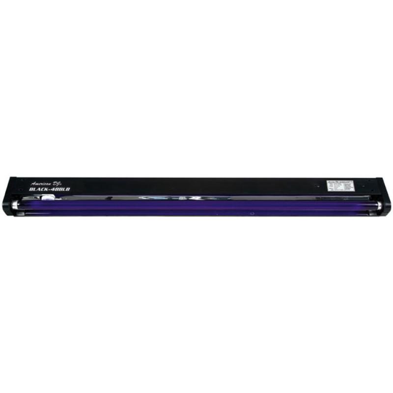 "Fluorescent Light Sound: ADJ BLACK-48BLB 48"" UV Fluorescent Light Fixture"