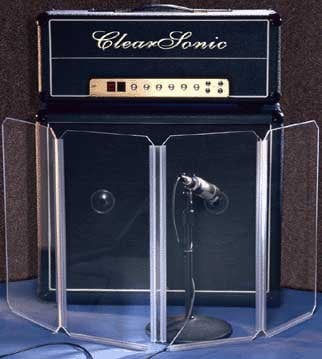 2' x 1' 4-Section Clear Acoustic Isolation Panel