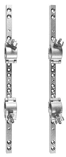 Two Mounting Bars with Four Mega-Couplers, Silver