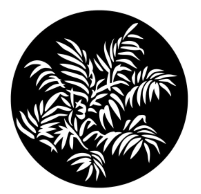 Foliage Ferns Steel Gobo