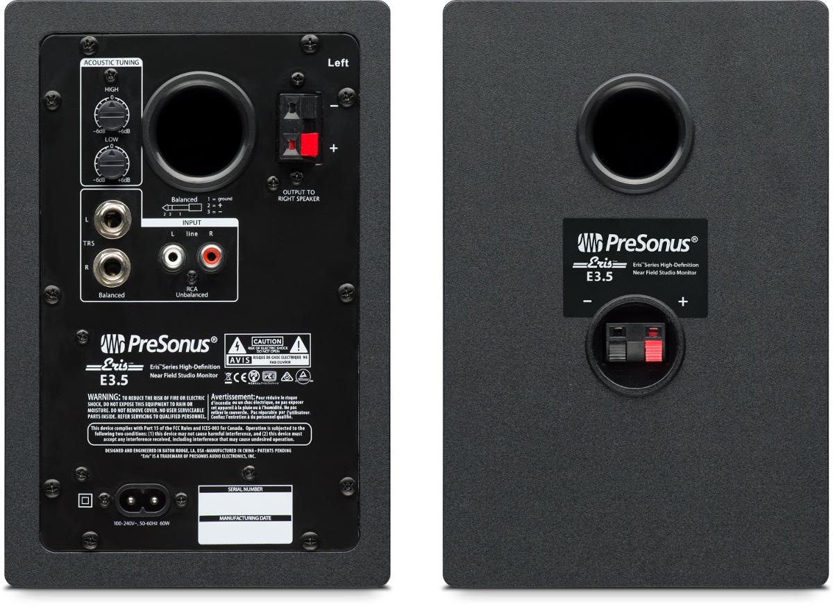 Presonus Eris E3 5 3 5 Two Way Active Speaker Pair Full