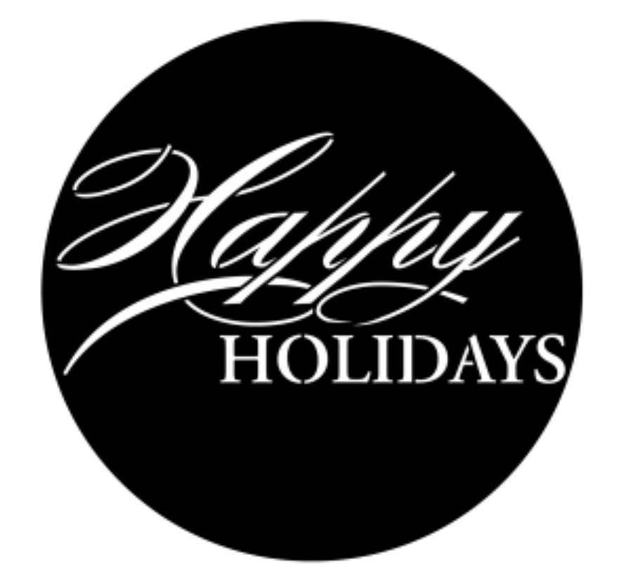 Fancy Happy Holidays Steel Gobo