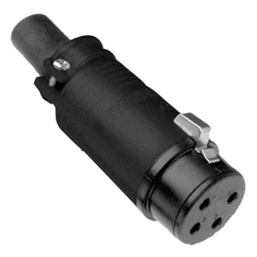 Black Cable Connector : Amphenol ep pb pin xlr female metal cable connector