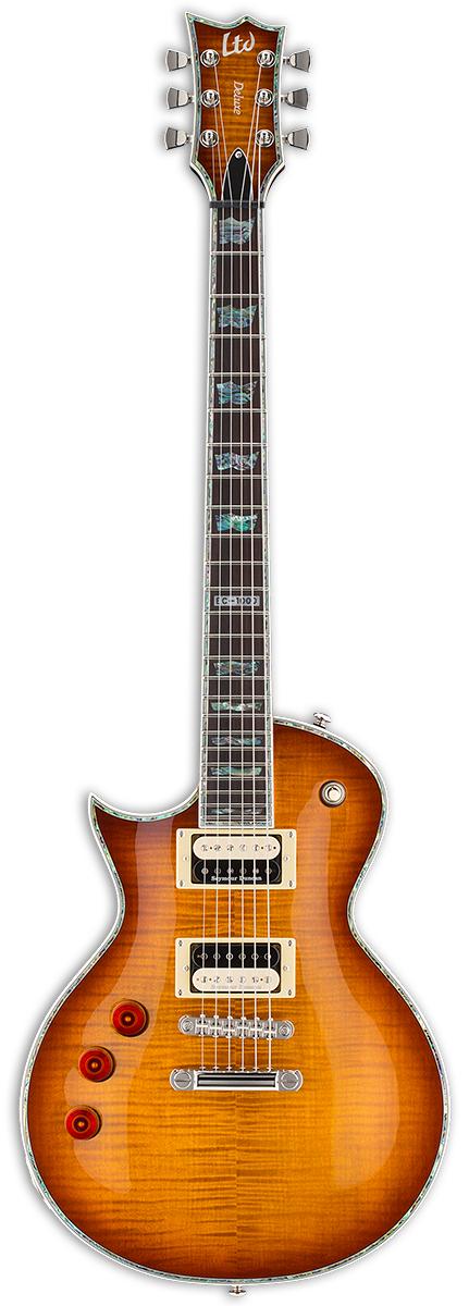 Left-Handed Electric Guitar, Amber Sunburst