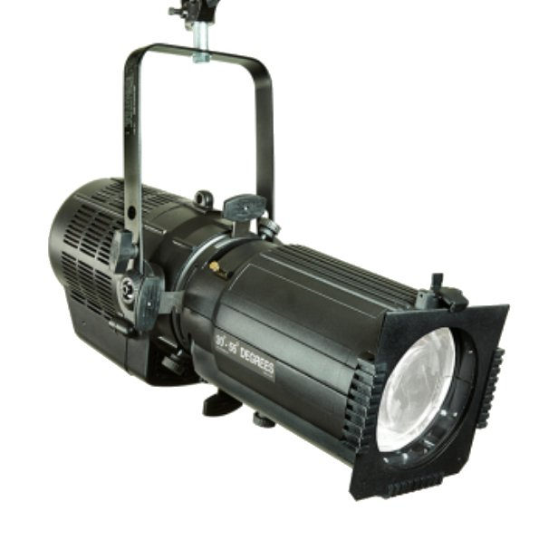 250W RGBW 30-55 Degree Zoom LED Spot in Black