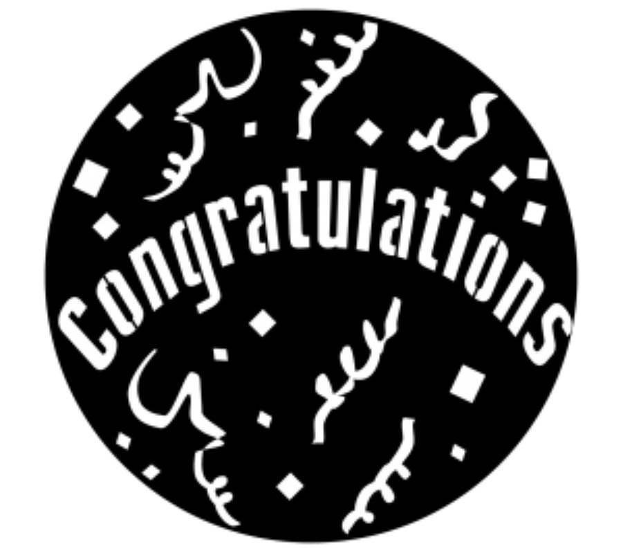 Congratulations Steel Gobo