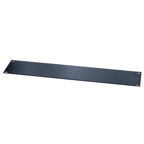 """Black 1sp(1.75"""") 1/8"""" Flat Sluminum Rack Panel"""
