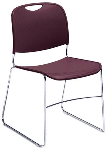 National Public Seating 8500 Series Stacking Chair, Wine Finish 8508