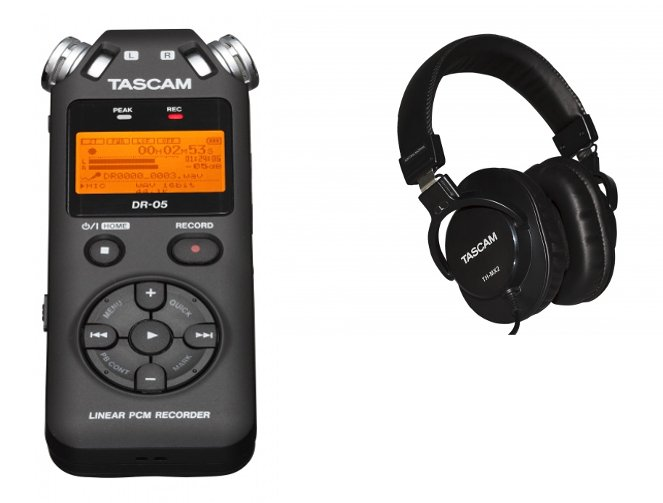 DR-05 Digital Stereo Recorder with FREE TH-MX2 Headphones