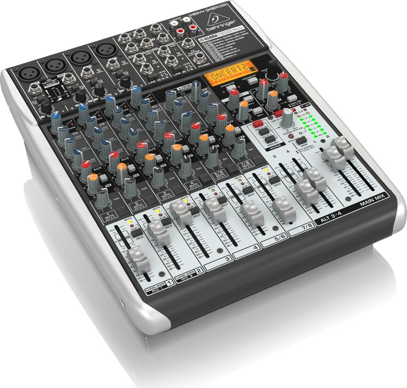 Behringer QX1204USB 12-Ch 2/2Bus USB Mixer, with Klark Teknik FX QX1204USB