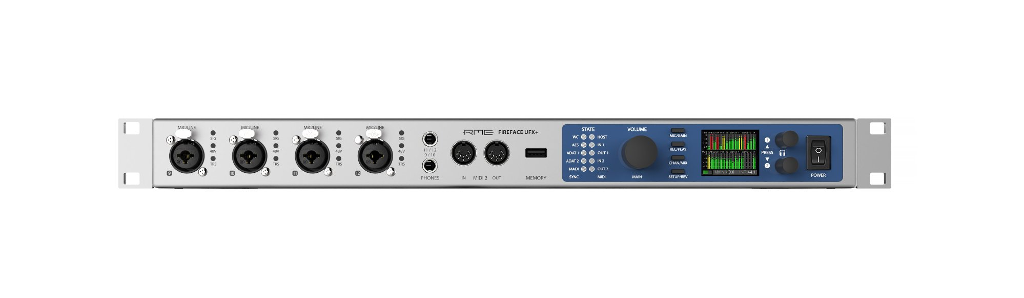 RME Fireface UFX+ Firewire Audio 188 Channel USB Thunderbolt Interface, 1RU FIREFACE-UFX-PLUS