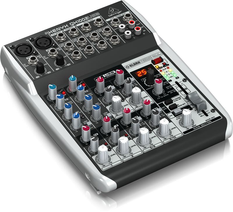Behringer QX1002USB 10 Channel 2-Bus USB Mixer with Klark Teknik FX QX1002USB