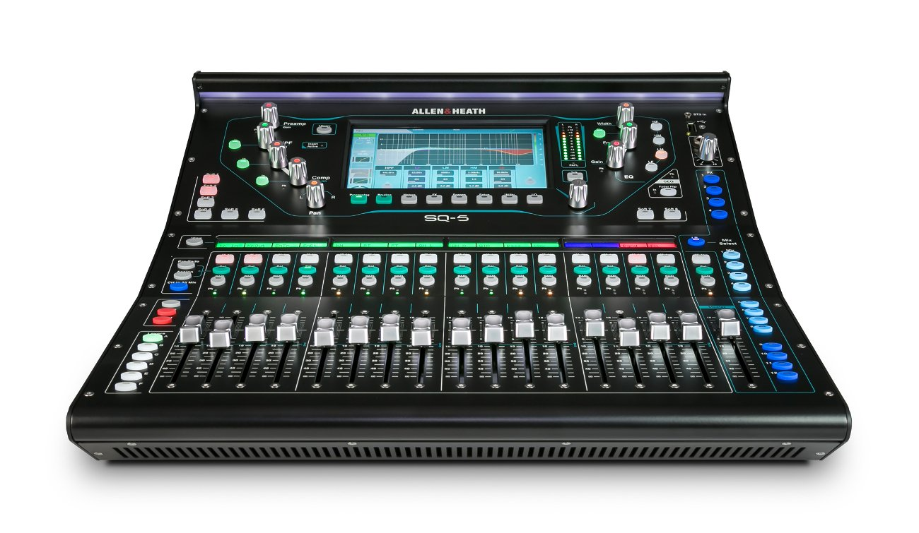 allen heath sq 5 digital mixer with 48 channels and 36 bus full compass. Black Bedroom Furniture Sets. Home Design Ideas