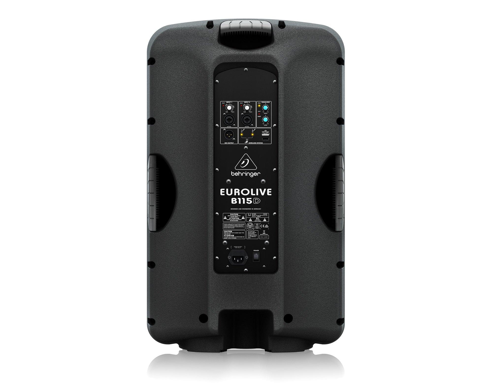 "PA Speaker w/Mixer, 15"" 1000W"