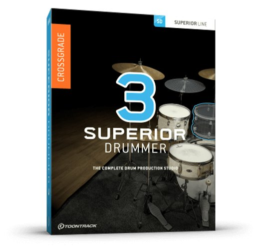 Toontrack SUPERIOR-DRUM-3 0-XG Superior Drummer 3 Crossgrade [DOWNLOAD]  Crossgrade from EZ Drummer 2 | Full Compass