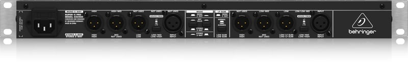 3-Way Stereo/4-Way Mono Crossover with Limiters
