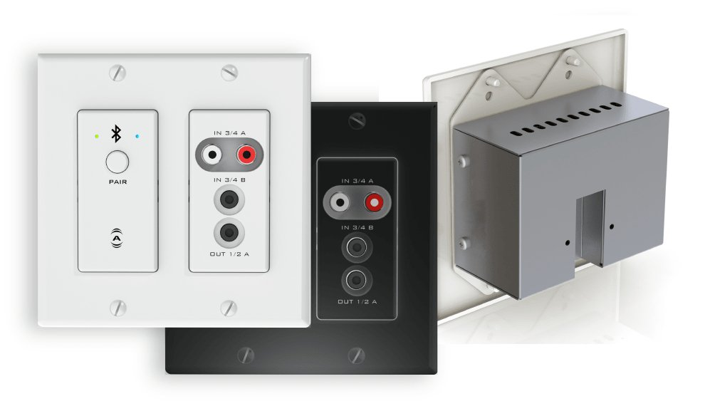 AES67 Networked Audio Wall Plate - 4x2 Multi I/O with Bluetooth