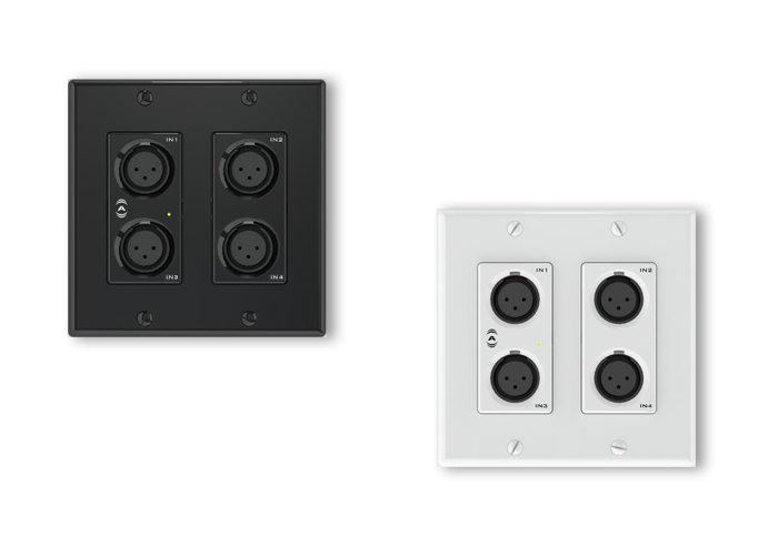AES67 Networked Audio Wall Plate- 4x2 Mic/Line I/O