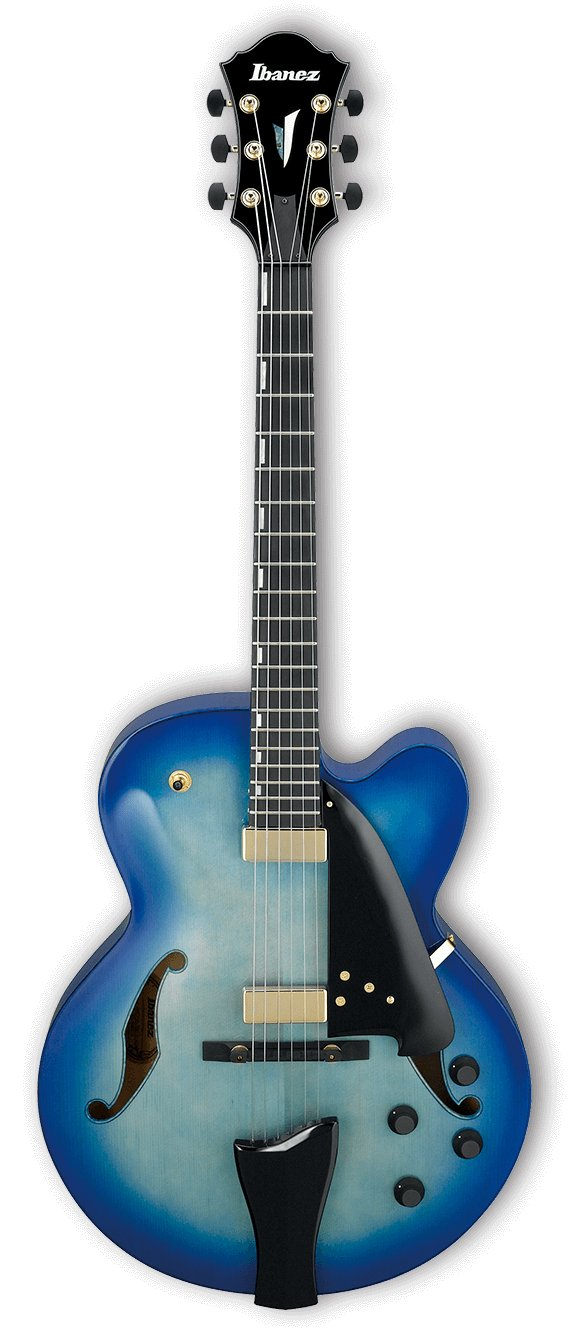 Electric Guitar with Case, Jet Blue Burst Finish