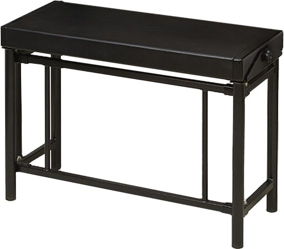 Hammond Suzuki USA Inc Pro XK-System Bench Pro Style Bench in for XK-Professional Series Organ System, Black 002-152-OPROXK