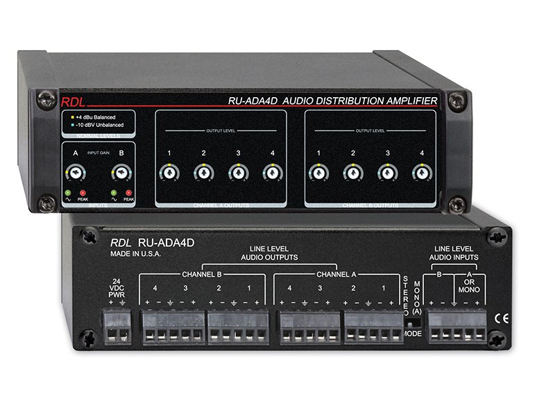 2x4 Stereo Audio Distribution Amplifier