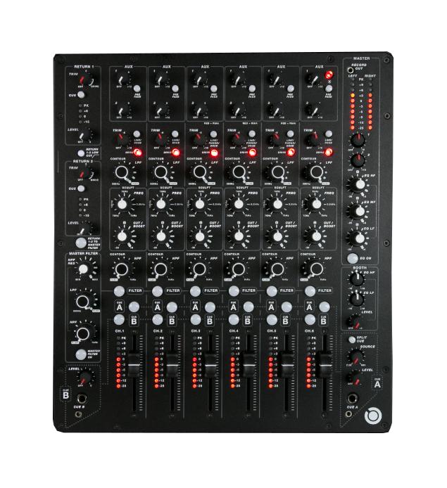 6-Channel Analog DJ Mixer