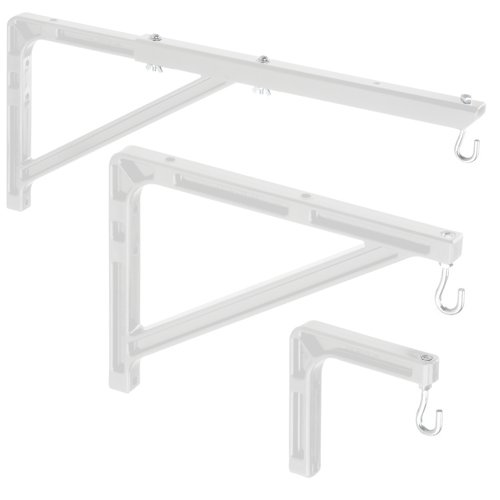 """Pair of No. 6, 6"""" Extension Wall Brackets"""
