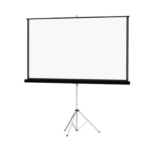 "69"" x 92"" Picture King 4:3 Portable Tripod Projection Screen, Matte White with Black Carpet Case"