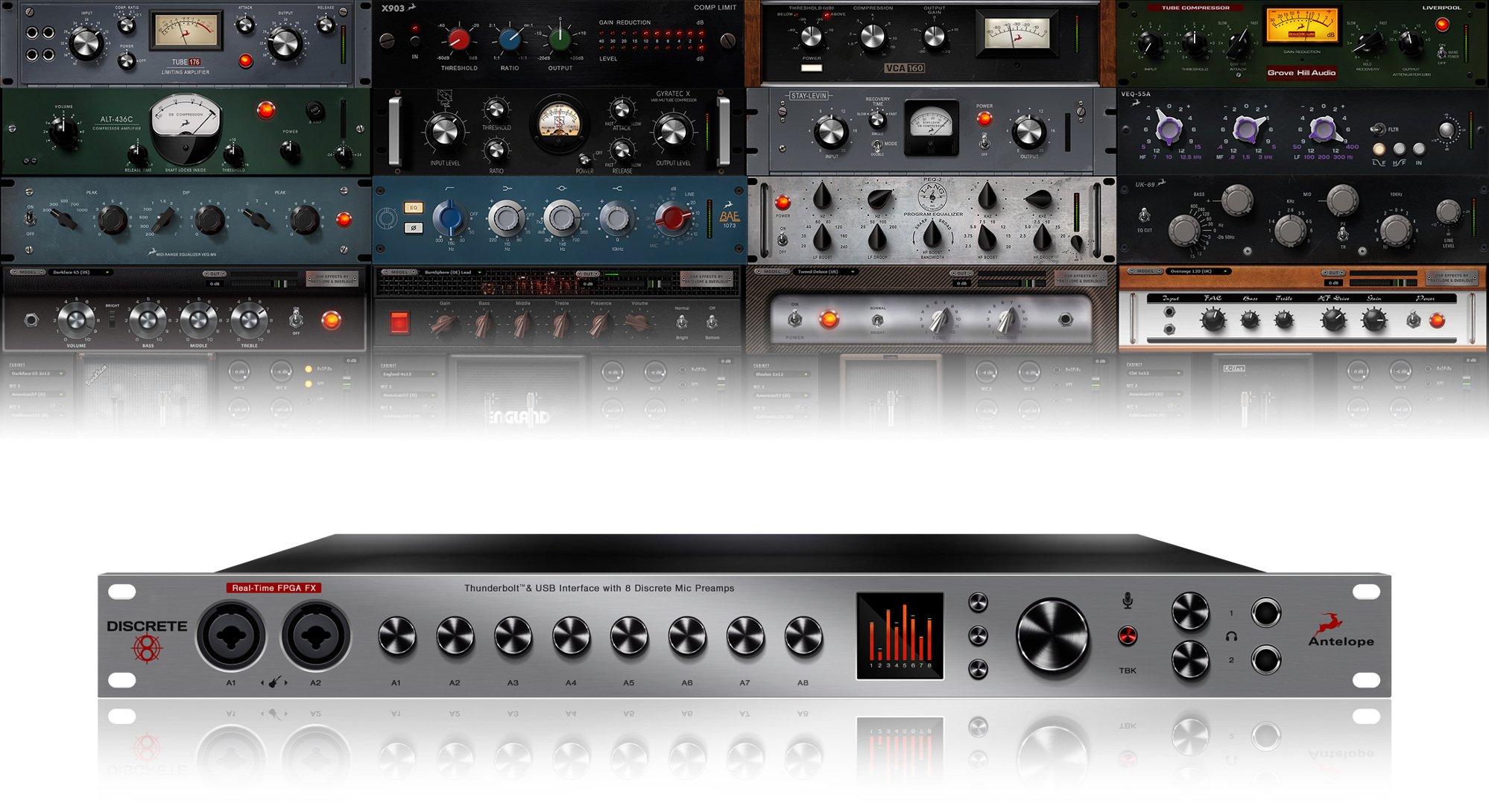 Antelope Audio DISCRETE-8+FX Discrete 8 + FX Console-grade Discrete