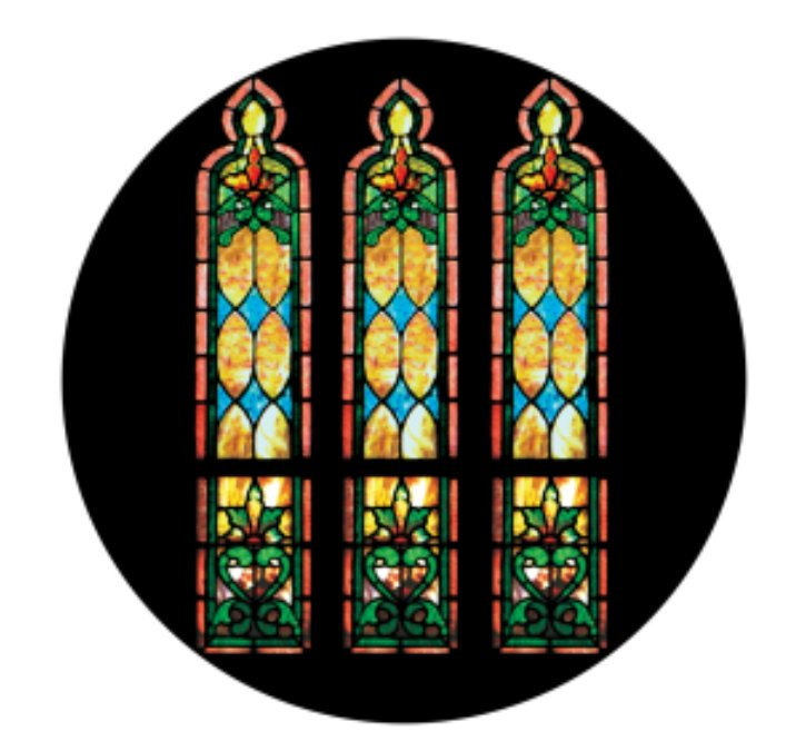 Apollo Design Technology CS-0115  Stained Glass Windows Morning ColourScenic Glass Gobo CS-0115